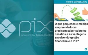 O Que Pequenos E Médios Empreendedores Precisam Saber Sobre Os Desafios E As Vantagens Envolvendo Gestão Financeira E O Pix Organização Contábil Lawini - Contabilidade em Estrela - RS | ZW Contabilidade
